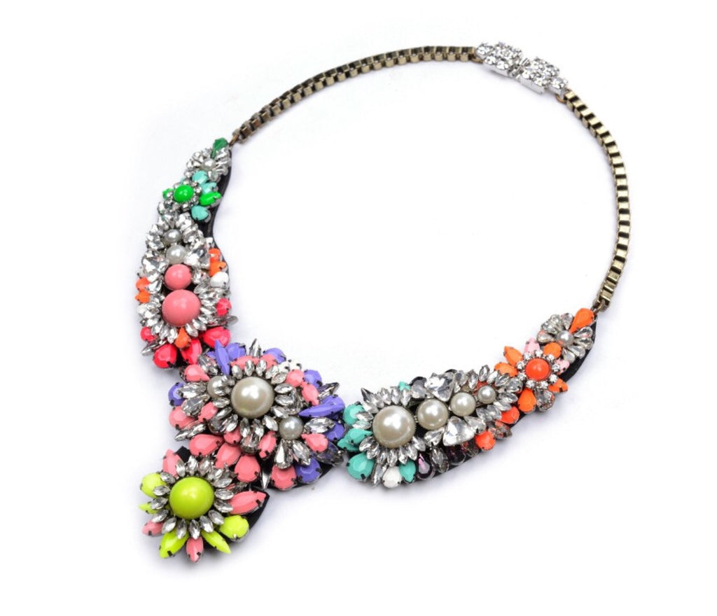 Saint colour crystal necklace