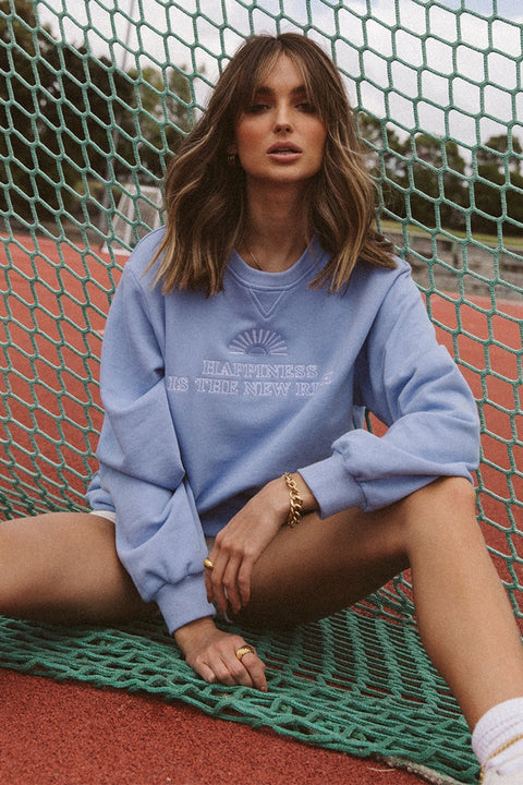 The new rich periwinkle jumper
