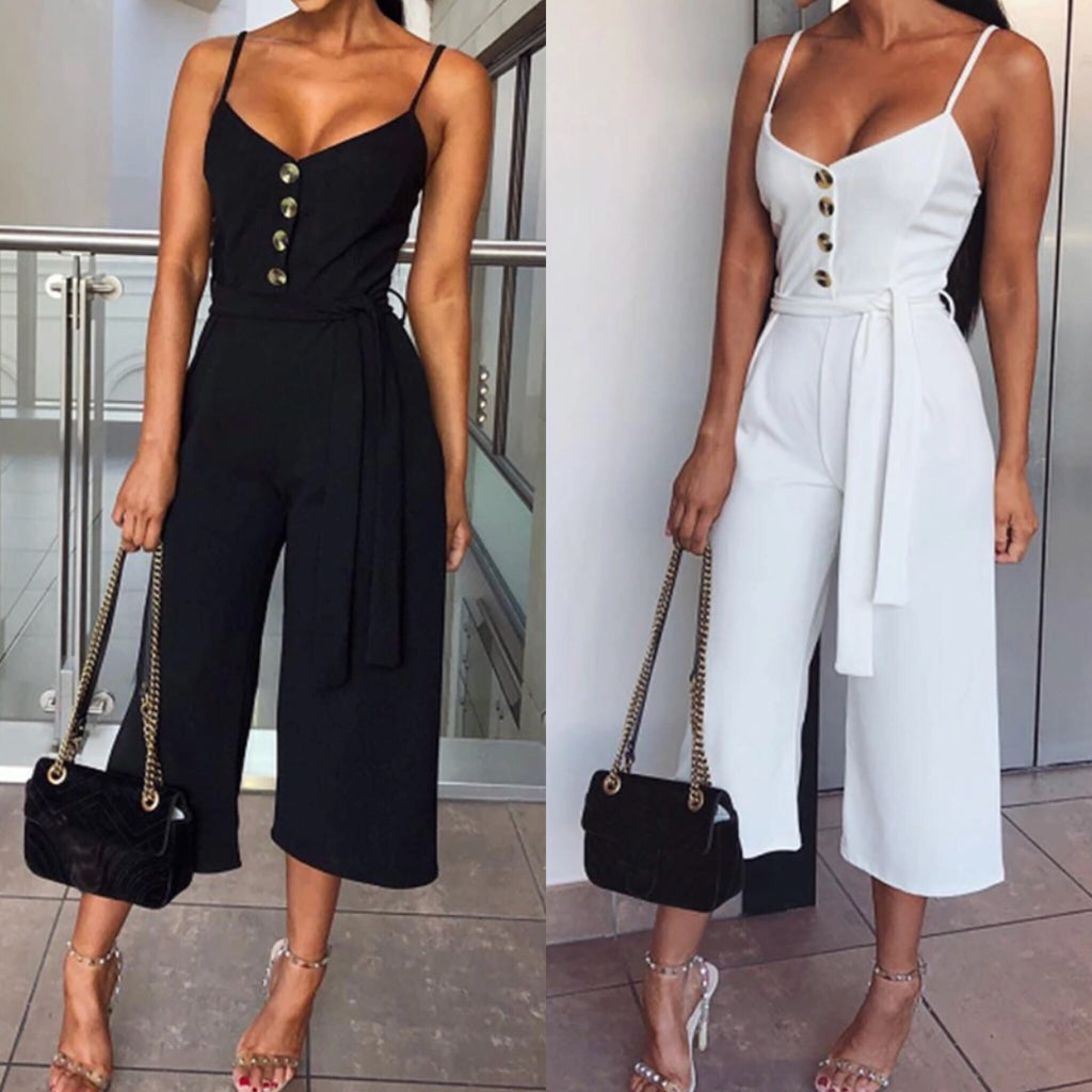 Yannie jumpsuit in white and black