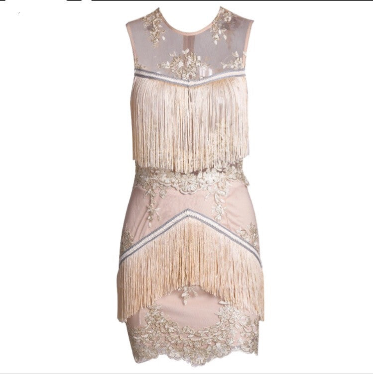 Cassie Lace Tassle Dress