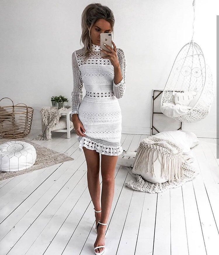 Riptide White Lace Dress