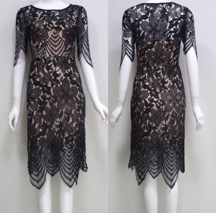 Lab black lace dress