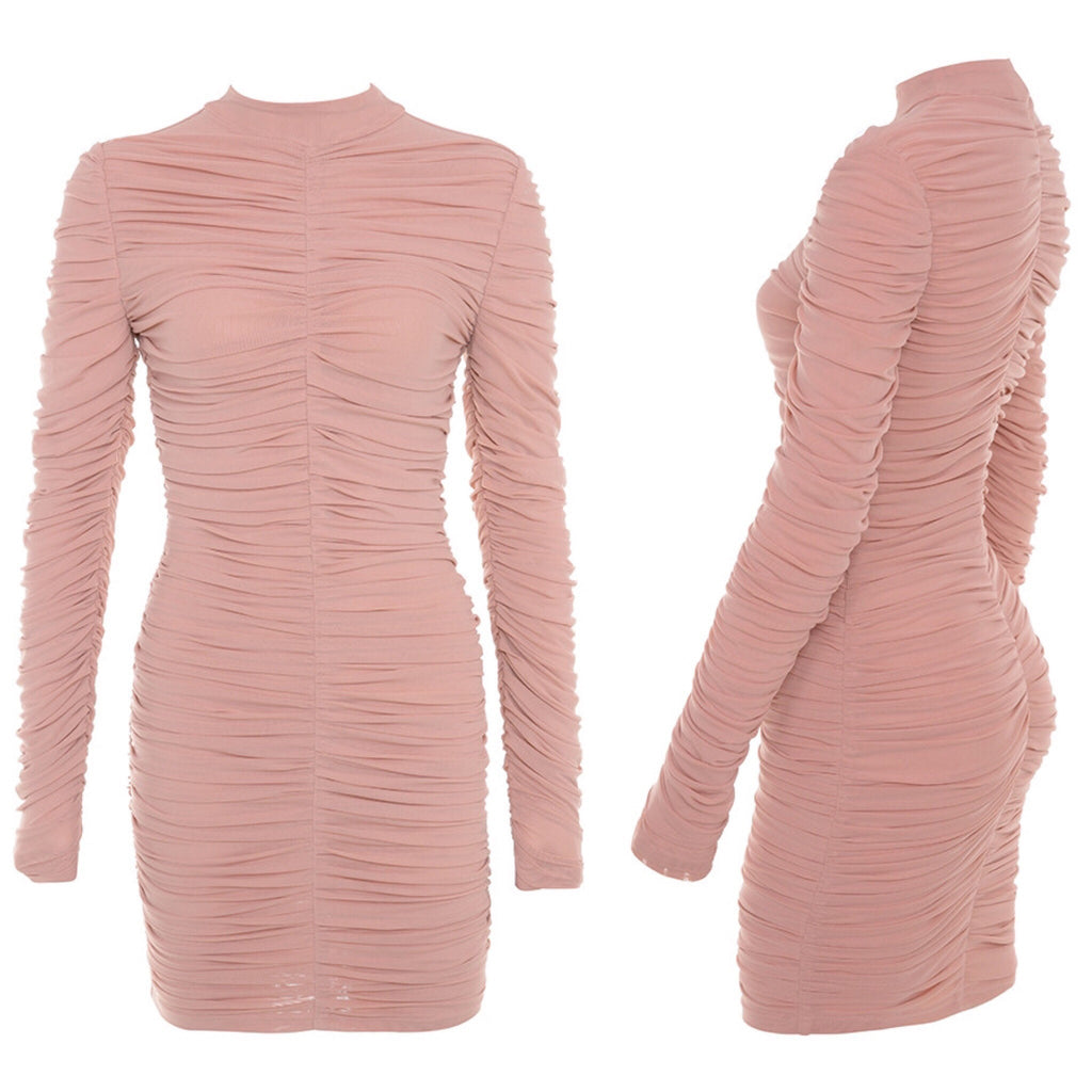 Nadia blush long sleeve dress