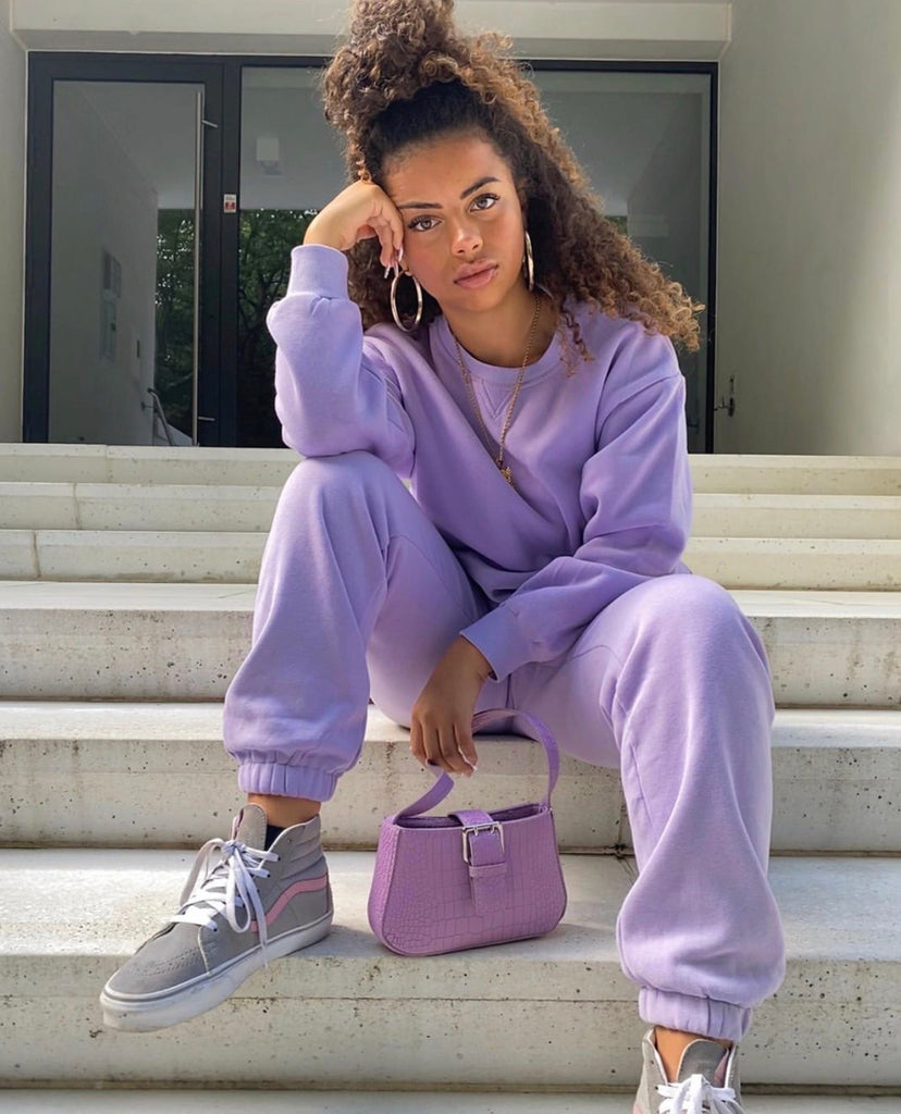 RW lilac jumper and track pants (sold as separates)