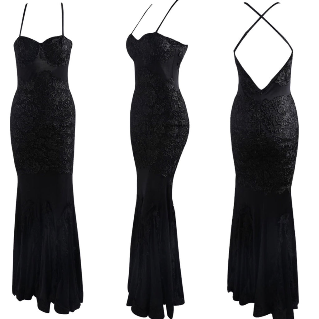 Francisca black maxi dress