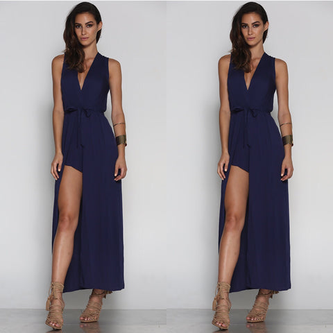 Valentina Navy Playsuit