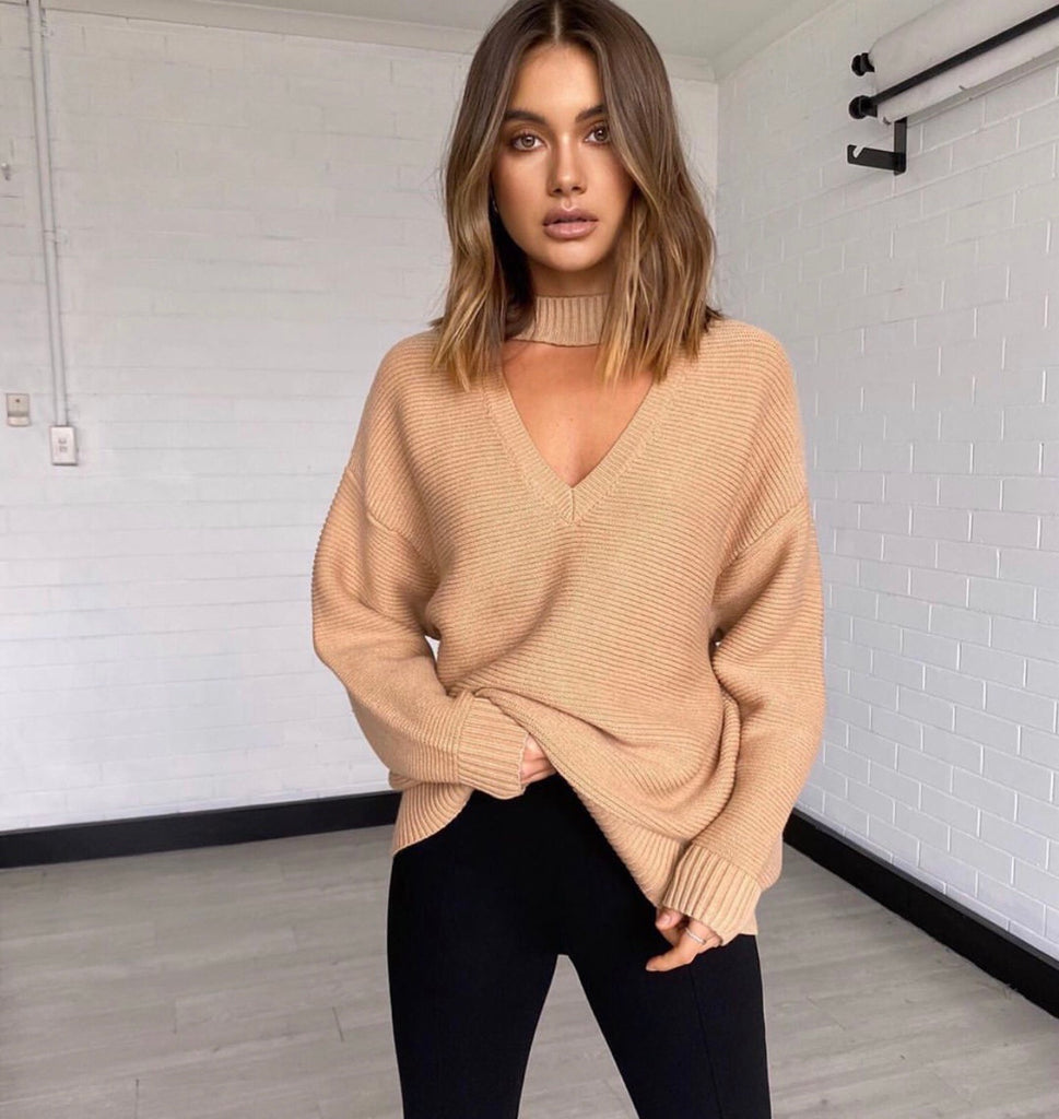 Frida camel knit