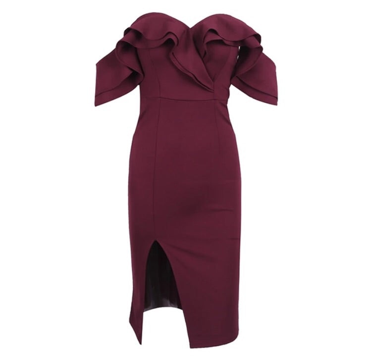 Evie Wine Red Dress