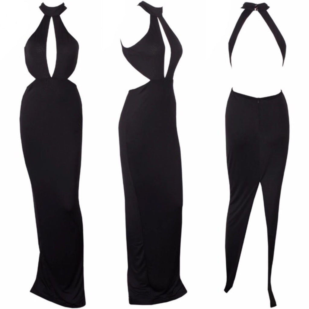 Mon black maxi dress