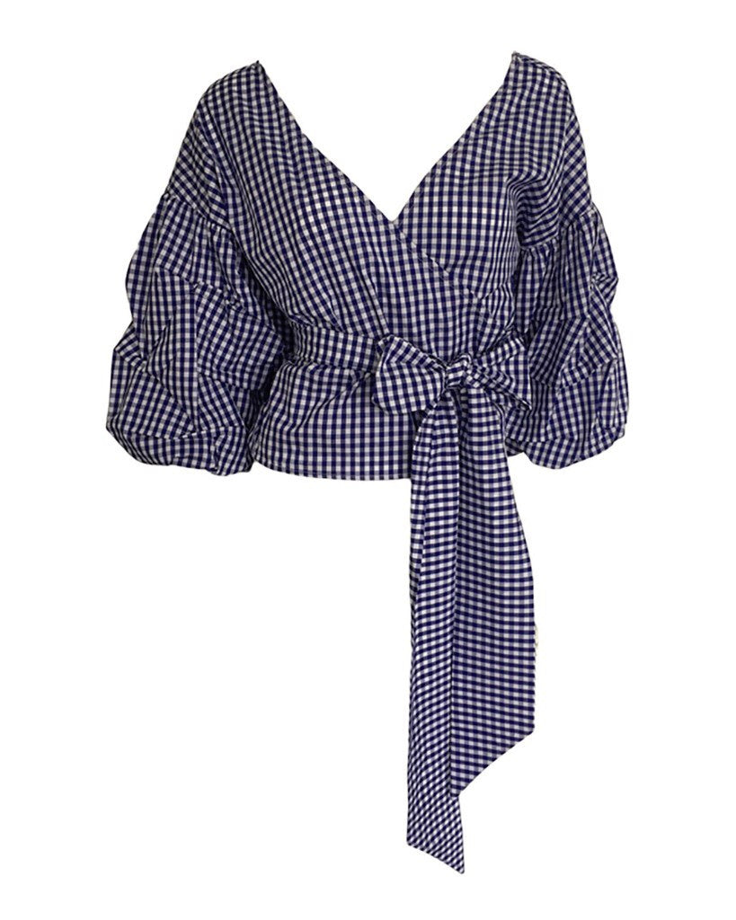 Casey gingham blouse