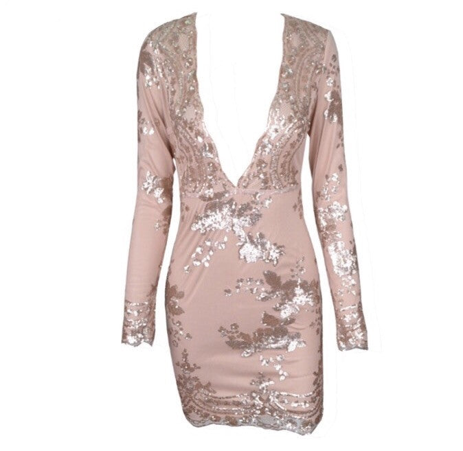 Molly deep v sequin dress