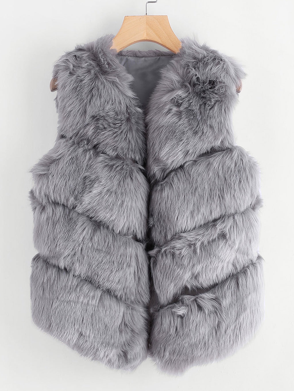 Dream grey faux fur vest