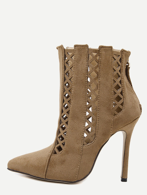 Olivia brown ankle boots