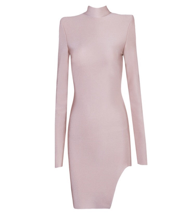 Gemini blush long sleeve dress