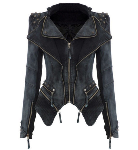 Torstar Black Denim Studded Jacket