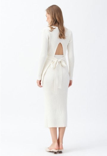 Ameka white ribbed top and skirt (sold as seperates)