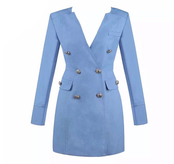Maris blue blazer dress