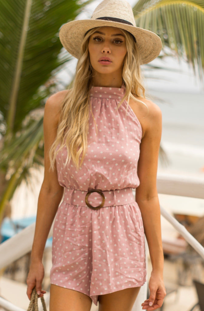 Airlie dusty pink playsuit