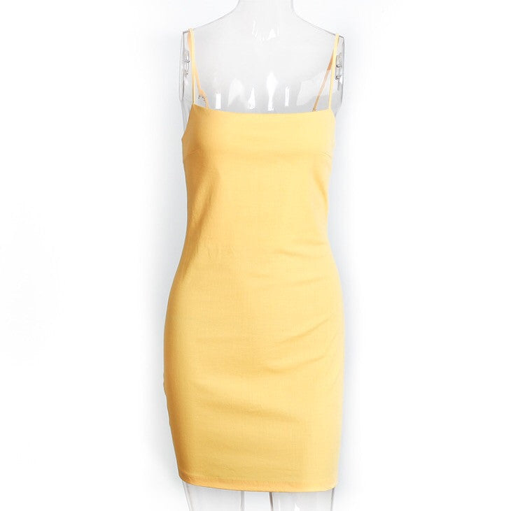 Courtney Yellow Tie Dress