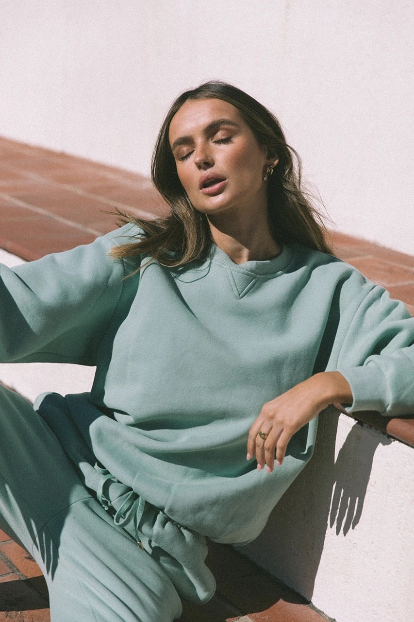 RW seafoam jumper and track pants (sold as separates)