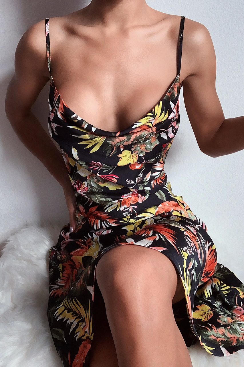 Pachouli floral slip dress