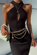 Dana rib black dress