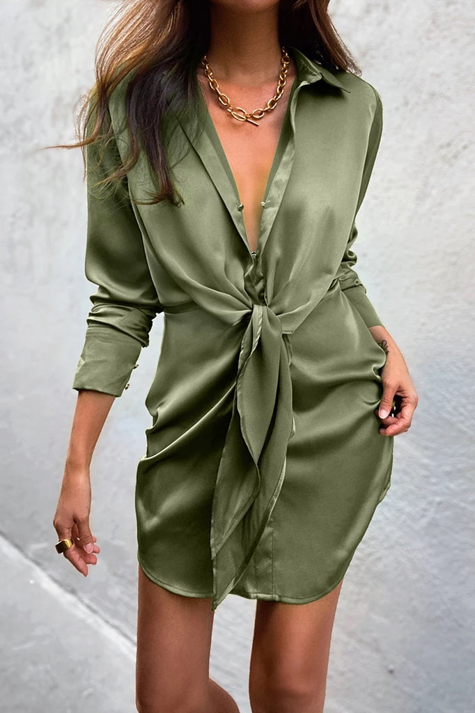 Ruby khaki shirt dress