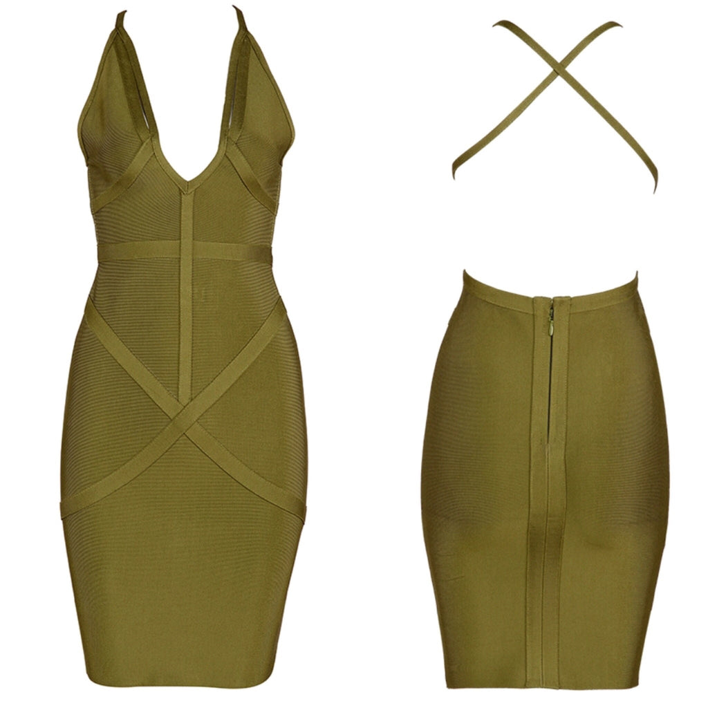 Chantelle khaki dress