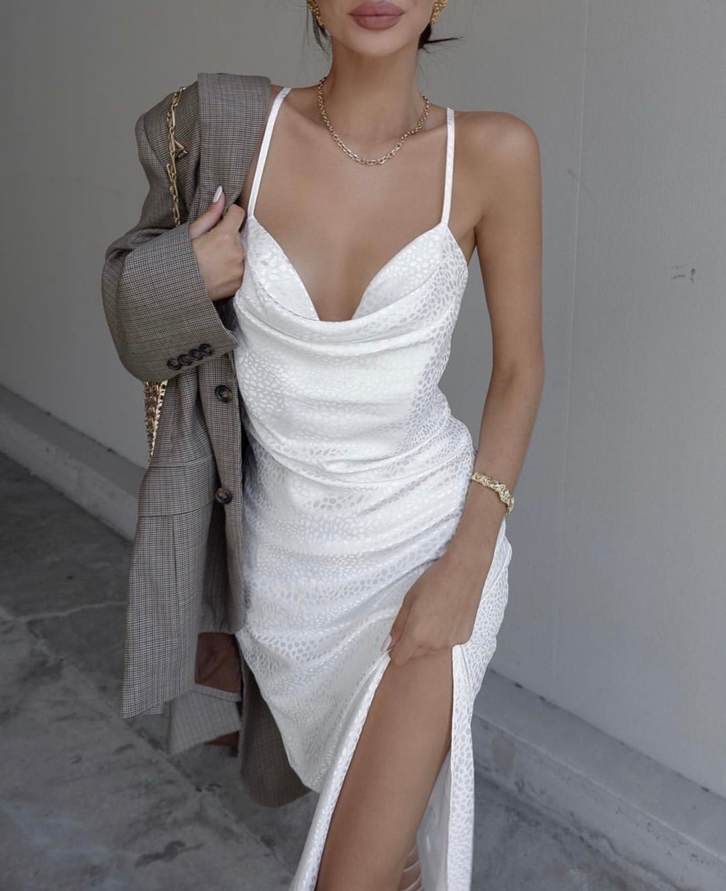 Isle of white slip dress