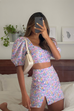 Flashback lilac floral top and skirt (sold as separates)