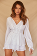 Sabina white playsuit