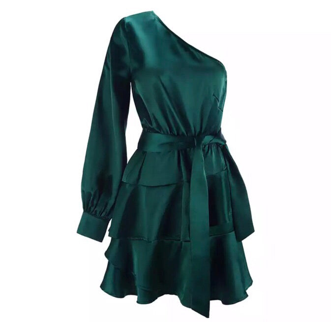 Levy emerald green dress