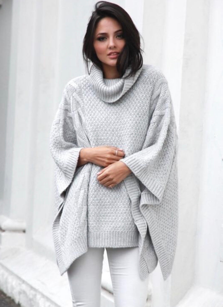 Bells out Grey poncho