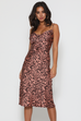 Leo pink leopard slip dress