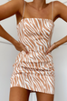 Sharon rust zebra dress