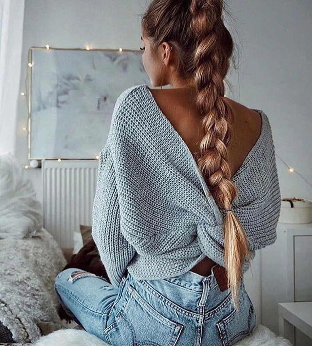 Steph Knot Grey Jumper
