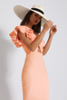 Viva midi cantaloupe dress