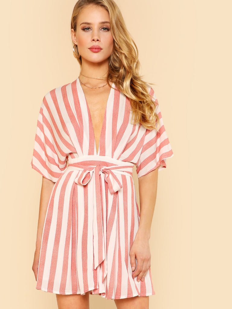 Lainey stripe playsuit