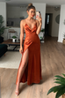 Alanis copper maxi dress