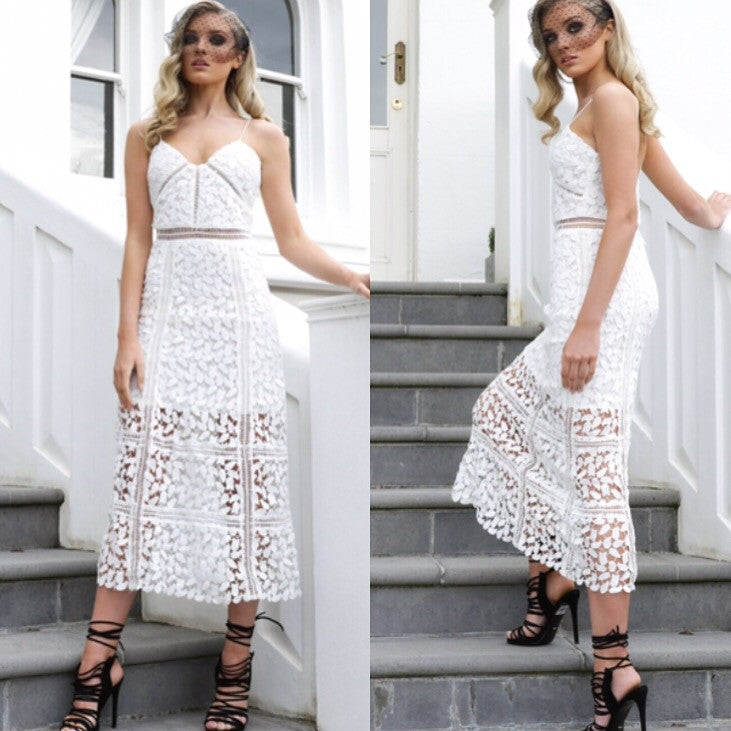 True love white lace dress