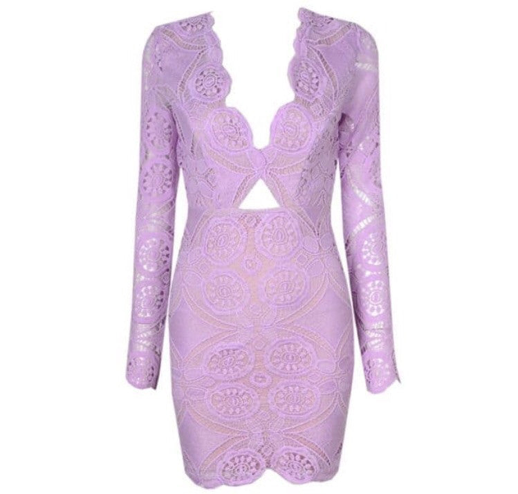 York long sleeve purple dress