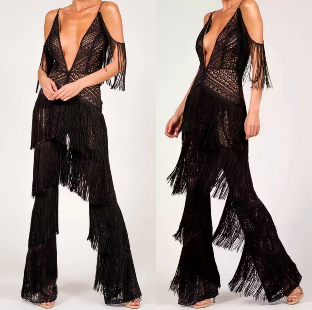 Darling black Tassel jumpsuit