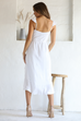 Marni white wrap maxi dress