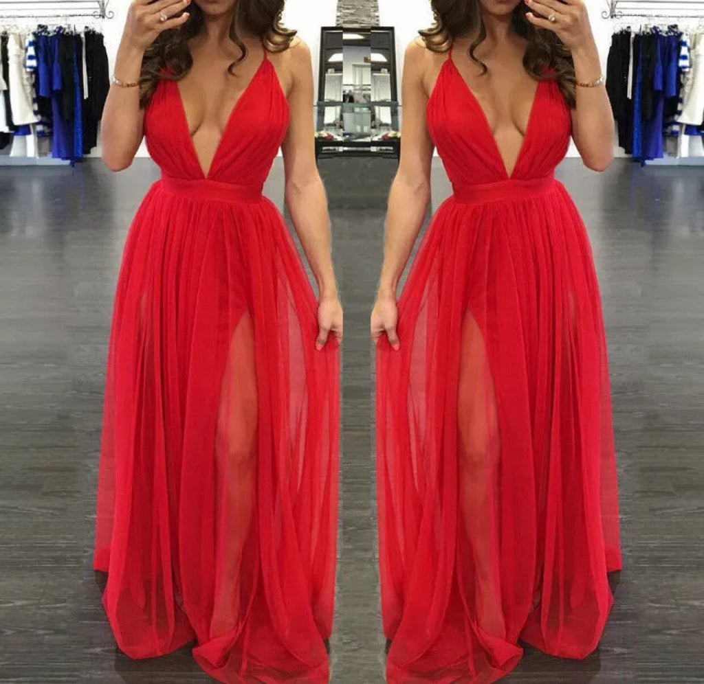 Tamsin red maxi dress