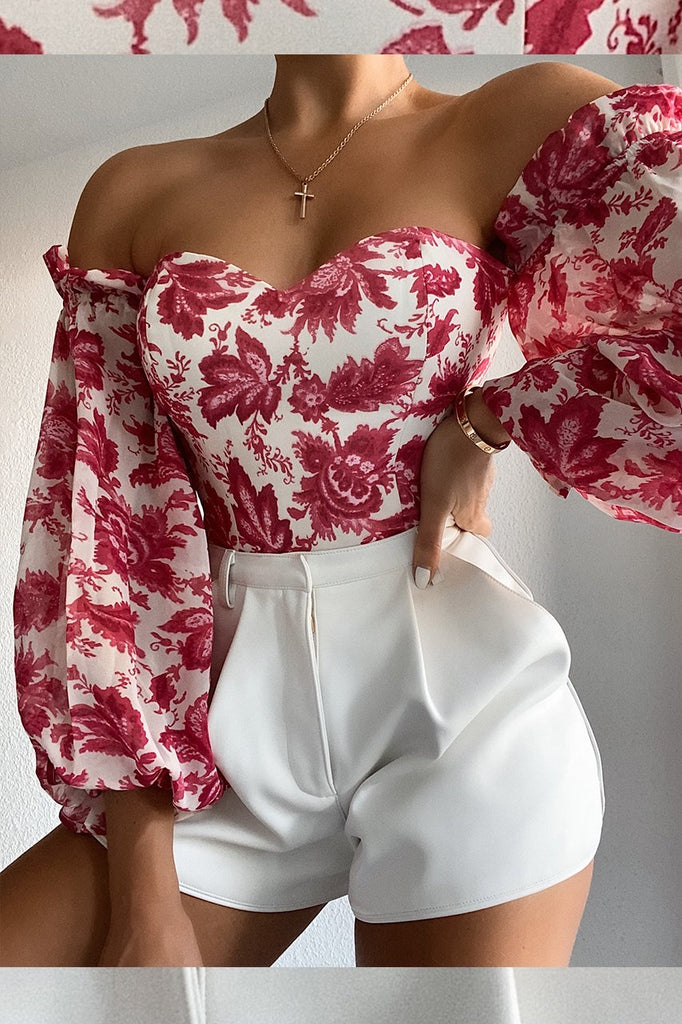 Stevie pink floral bodysuit