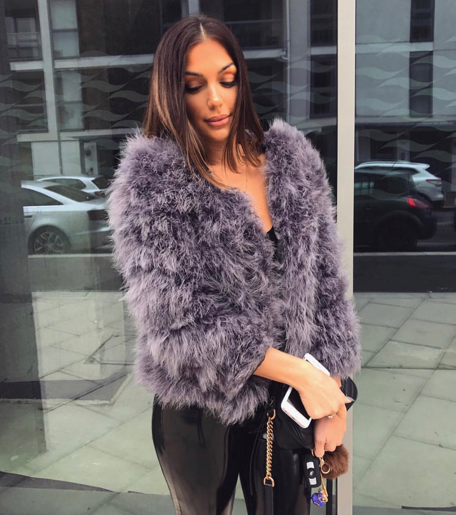 Maleka faux fur jacket