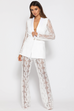 Primavera white lace trousers