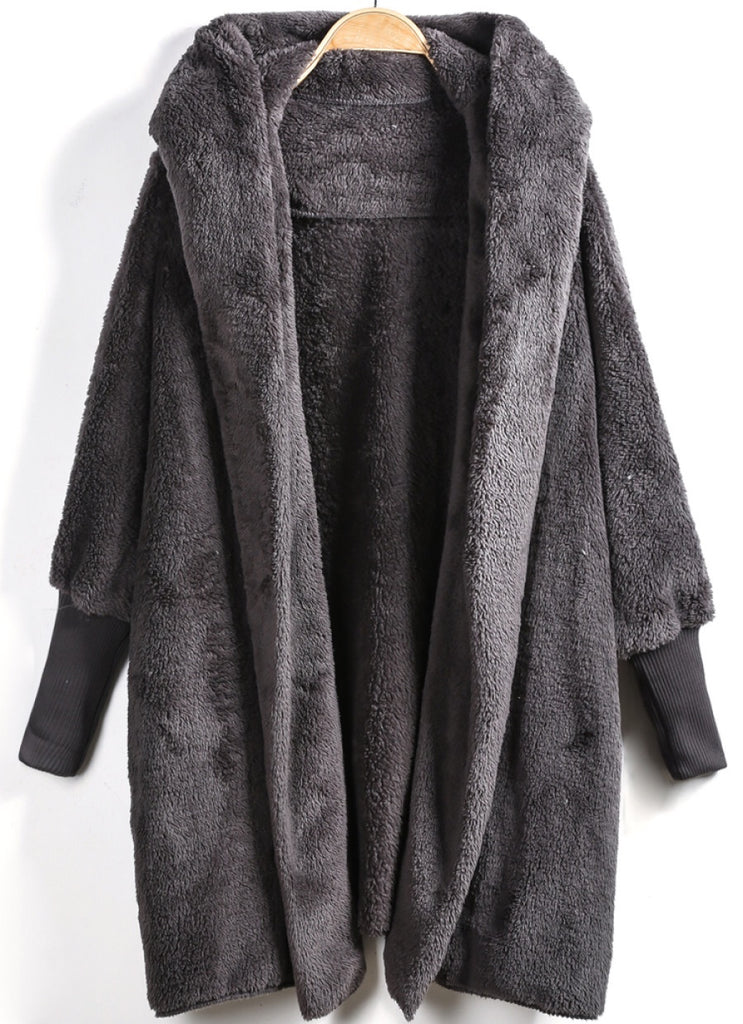 Molinda charcoal hooded jacket