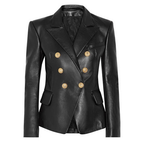 Alia pu leather black blazer