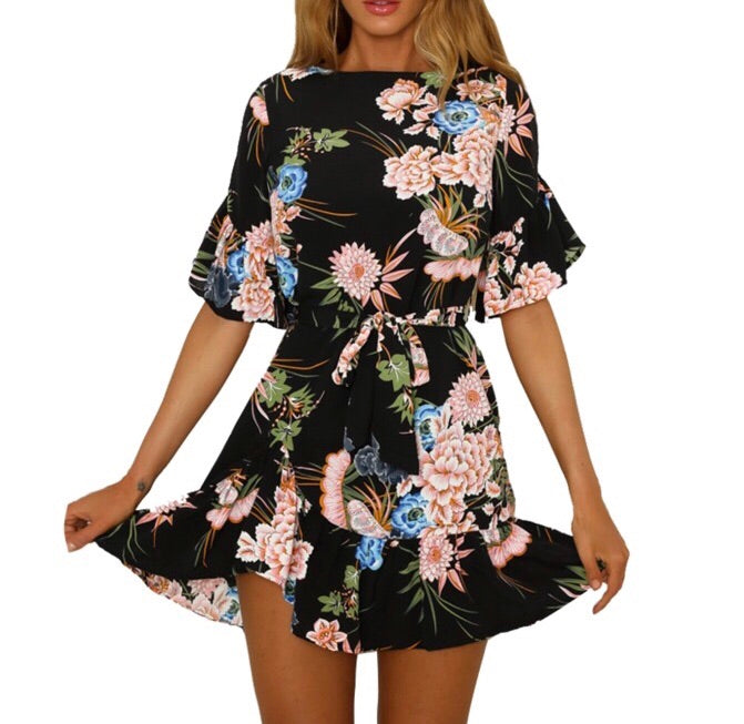 Alyssa floral print dress